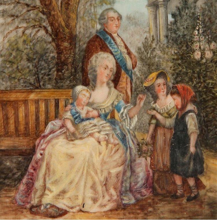 A vendre: tableaux Marie-Antoinette, Versailles et XVIIIe siècle - Page 3 Tzolzo10