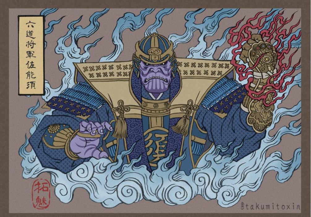浮世繪版本《復仇者聯盟4 終局之戰》 A10