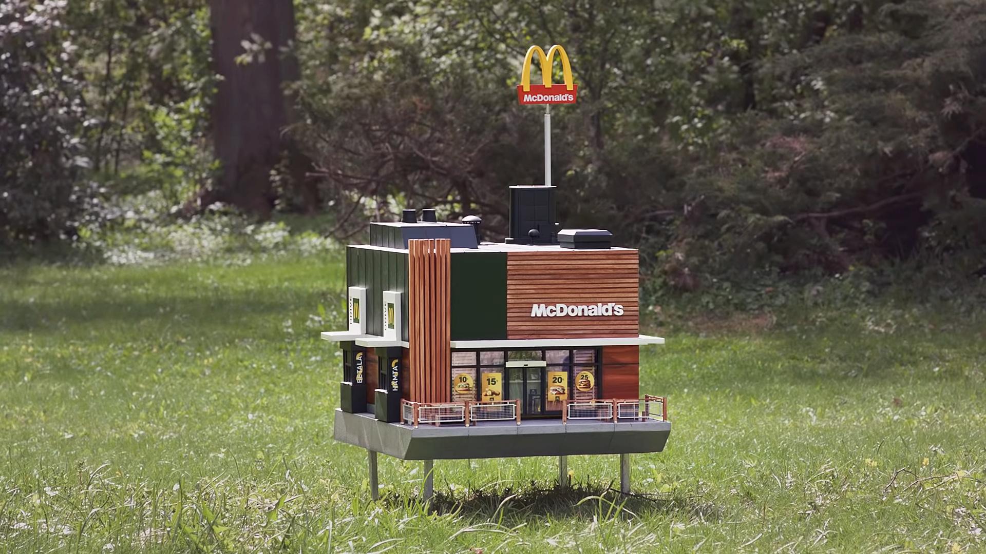 建一個世界最小的麥當勞給蜜蜂入住 Bee_hi11