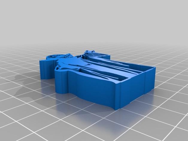 用3D 打印做出使用原力支撐書本的架子  Ea486910