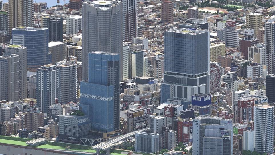 你以為這是現實的城市?不對,這是minecraft的地圖! F-l2fj10
