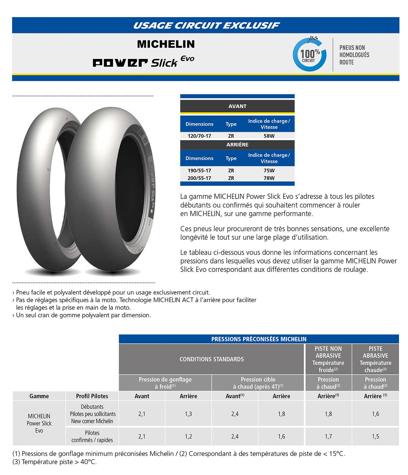 Tableau pressions pneumatiques moto Michel14