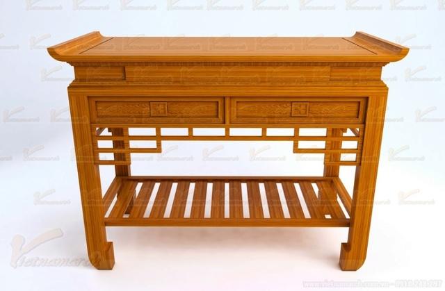 Sản phẩm cần bán: Mẫu bàn thờ đẹp đặt đóng theo kích thước lỗ ban chuẩn phong thủy Mau-ba10
