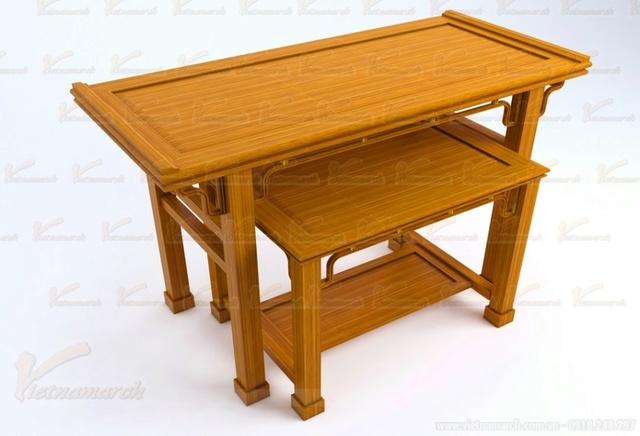 Sản phẩm cần bán: Mẫu bàn thờ đẹp đặt đóng theo kích thước lỗ ban chuẩn phong thủy Mau-ba11