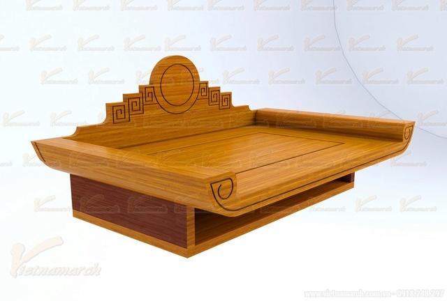 Sản phẩm cần bán: Mẫu bàn thờ đẹp đặt đóng theo kích thước lỗ ban chuẩn phong thủy Mau-ba14