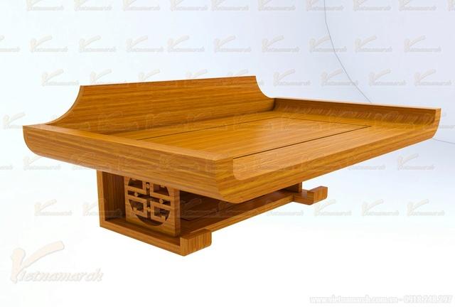 Sản phẩm cần bán: Mẫu bàn thờ đẹp đặt đóng theo kích thước lỗ ban chuẩn phong thủy Mau-ba15