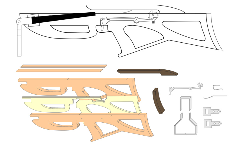 Plans and materials for my first build Crossb14