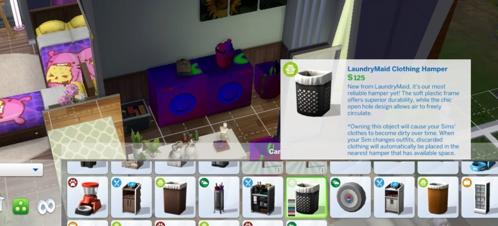 Laundry pack installed but not accessible - Help please! Sims4_10