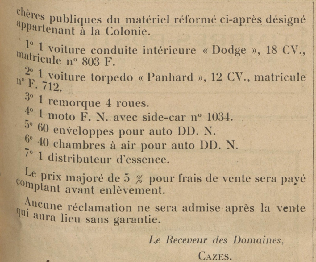 """Matériels """"Colonie"""" Side_110"""