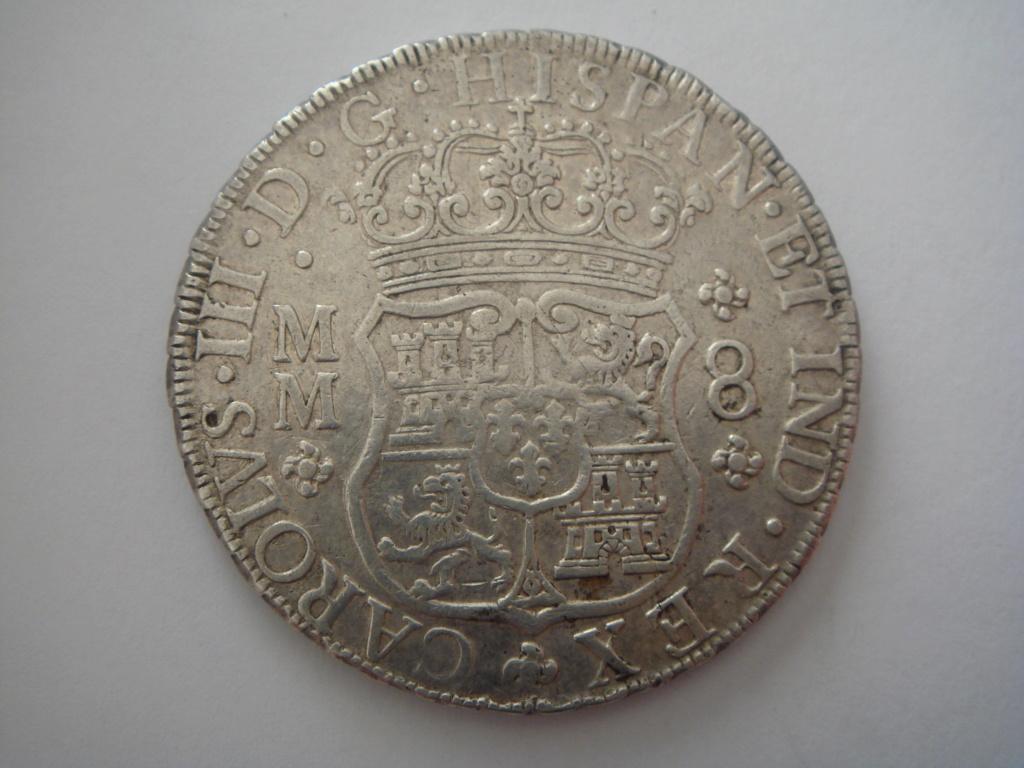 Columnario de 8 reales de Carlos III de 1763, Mexico. Dsc00310