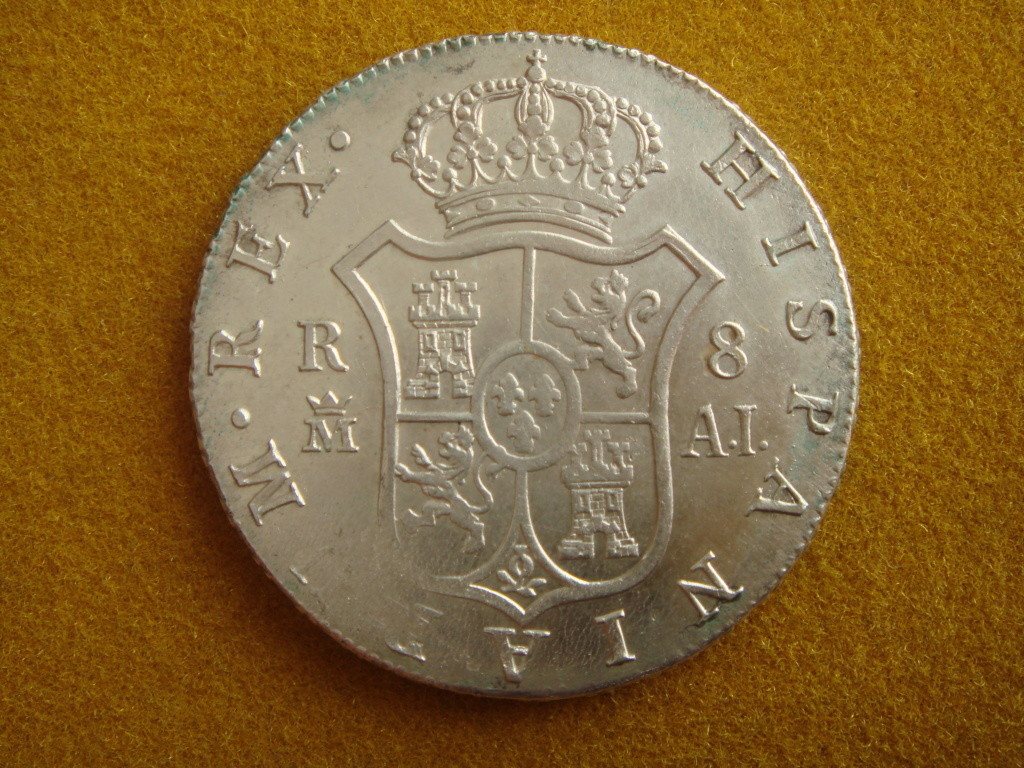 8 reales Madrid 1808 A.I. de Carlos IV ¿de José Napoleón I?... Dsc00313