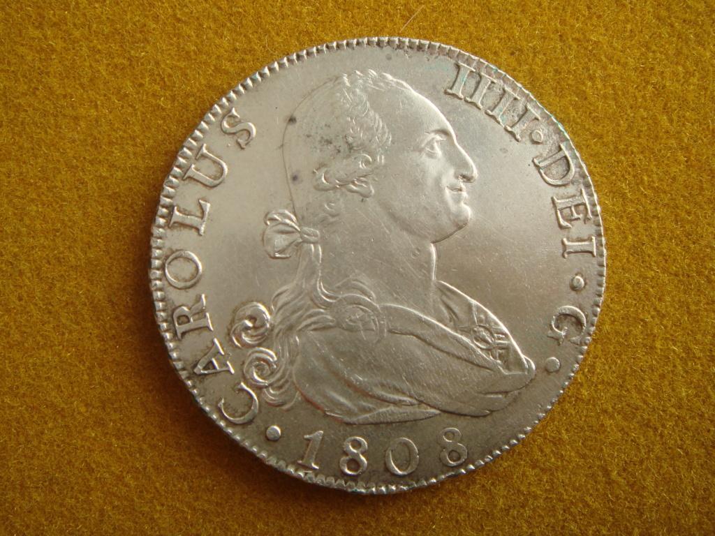 8 reales Madrid 1808 A.I. de Carlos IV ¿de José Napoleón I?... Dsc00314