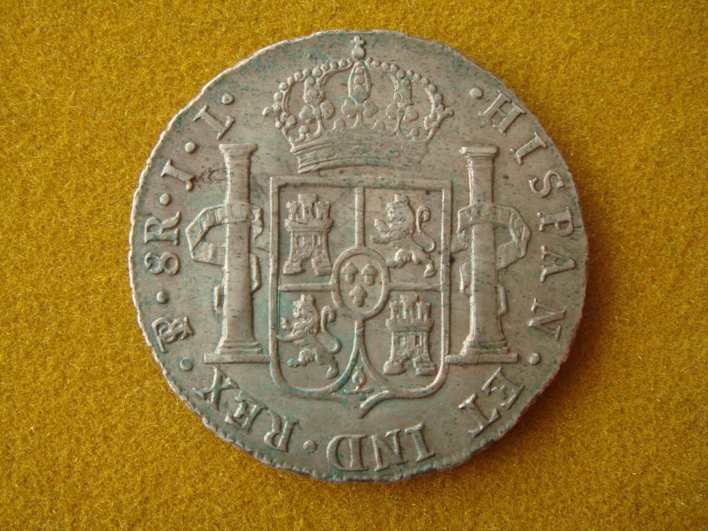 8 reales 1825. Fernando VII. Potosí. El duro republicano a nombre de Fernando VII Dsc00415