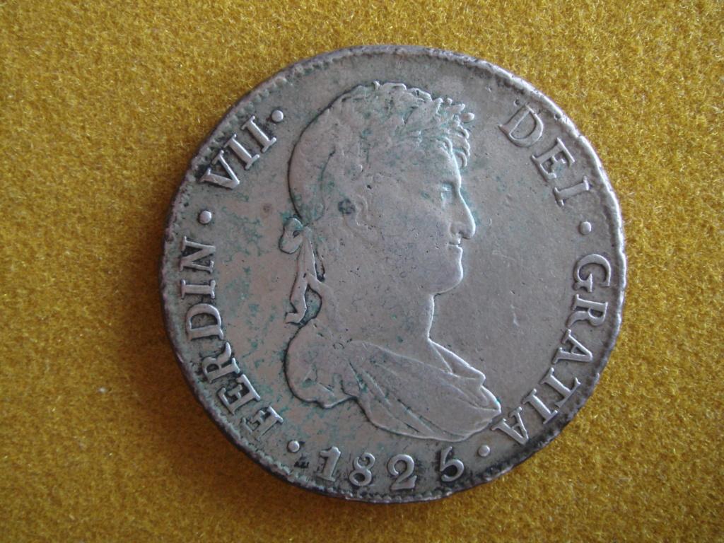8 reales 1825 Fernando VII. J. Potosí.  El último duro real de Fernando VII. Dsc00416