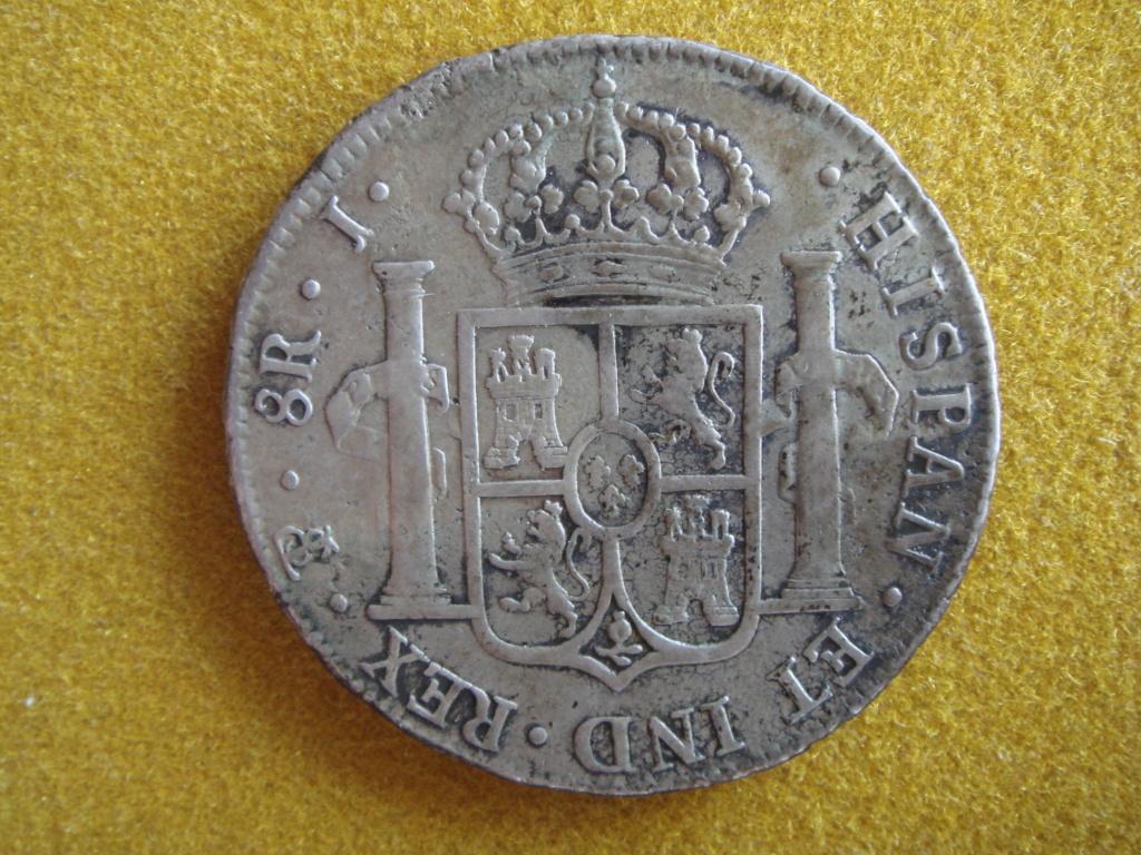 8 reales 1825 Fernando VII. J. Potosí.  El último duro real de Fernando VII. Dsc00417