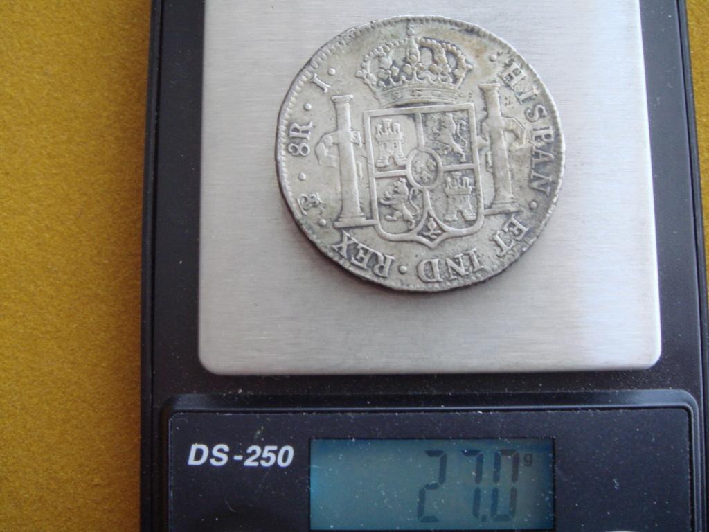8 reales 1825 Fernando VII. J. Potosí.  El último duro real de Fernando VII. Dsc00419