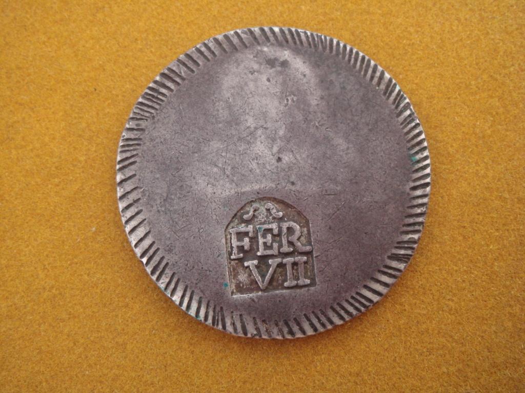 1 Duro 1808. Fernando VII. Gerona. EL VALOR DEL DURO DE GERONA.!! Dsc01011