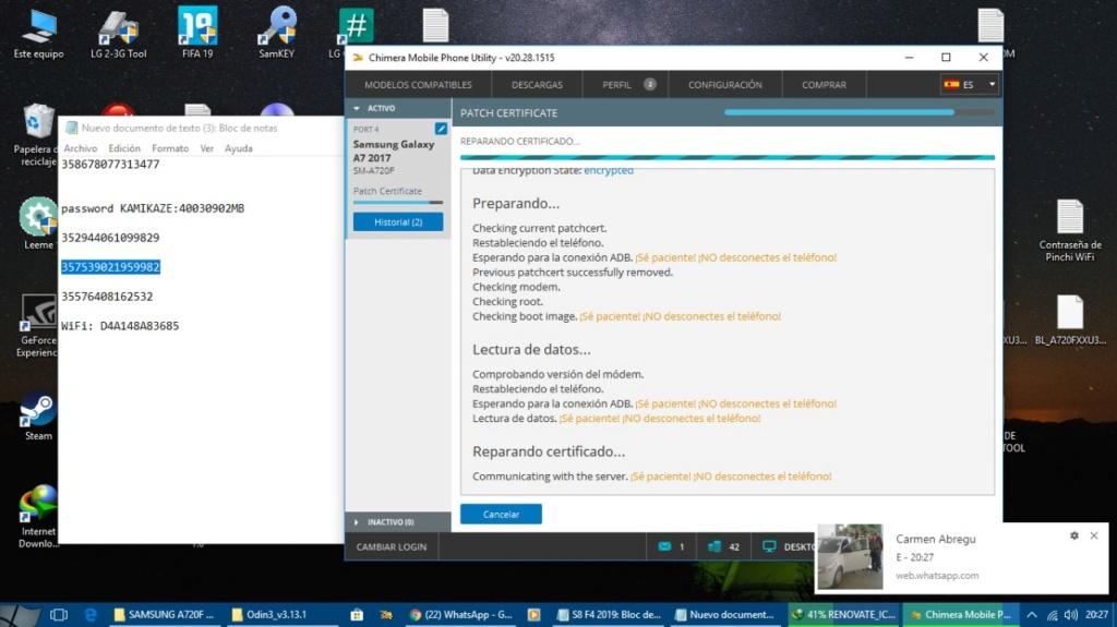 SOLUCION F4 PATCH CERTIFICATE SM-A720F 00ac8e11