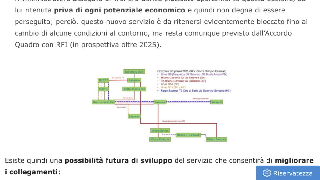 Il nuovo piano di accessibilità ferroviaria con MXP al 2026 09bef610