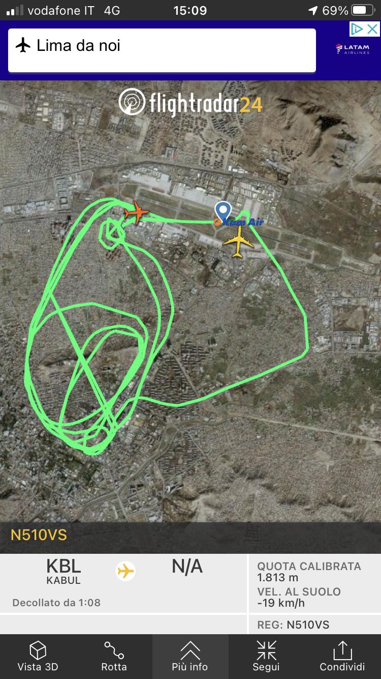 Kabul, Flightradar24 viene spento. 120a6910