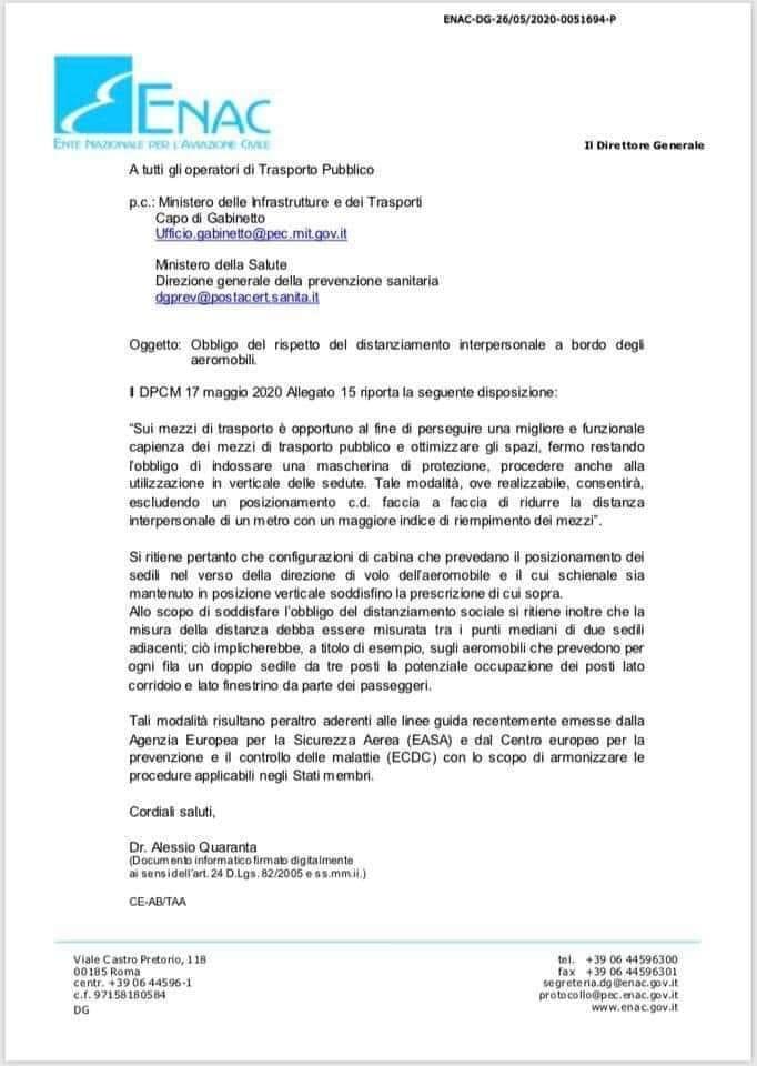 Riapertura scali italiani 238e8e10