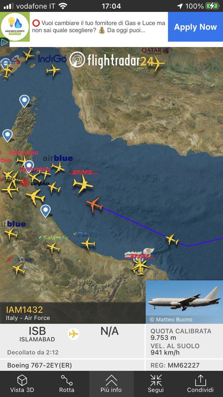 Kabul, Flightradar24 viene spento. 3377c010