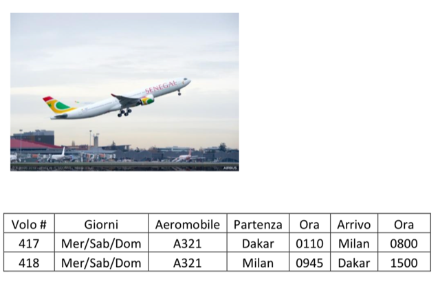 Air Senegal apre su Milano MXP  3bda5c10