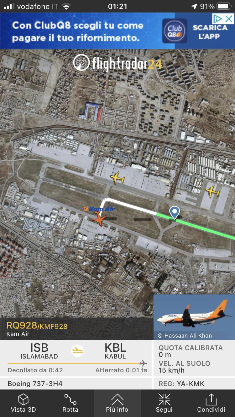 Kabul, Flightradar24 viene spento. 4118ee10
