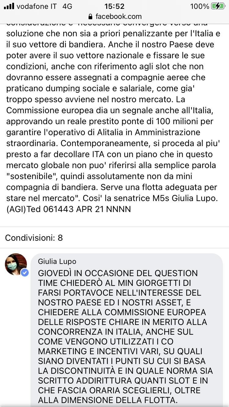 Alitalia, scontro con la EU - Pagina 4 5c1ee910