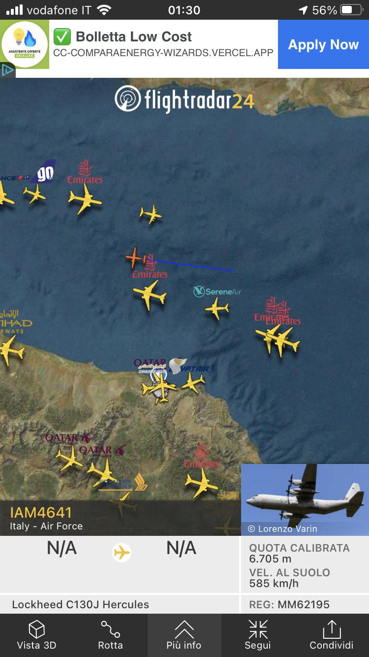 Kabul, Flightradar24 viene spento. 5f98b110