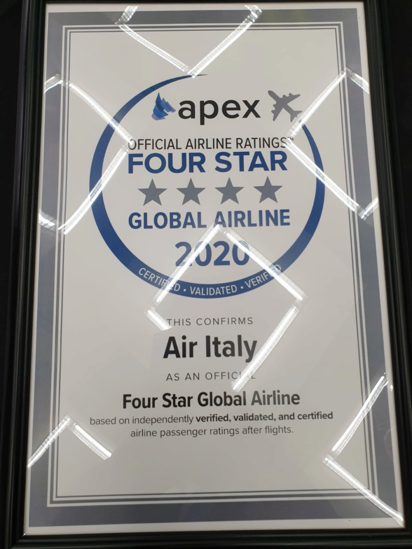 AirItaly premiata con 4 stelle 61075510