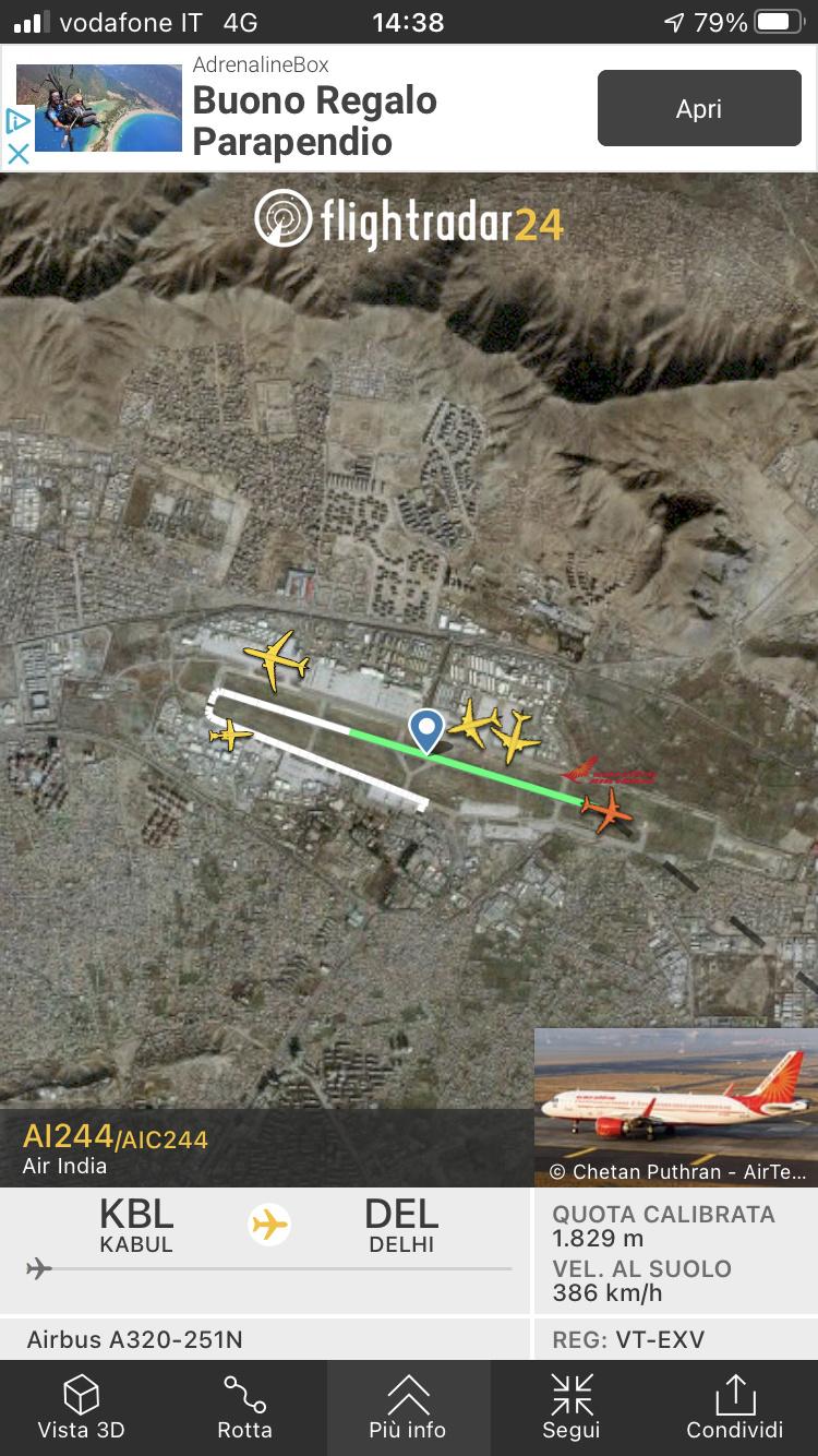 Kabul, Flightradar24 viene spento. 61fa8b10