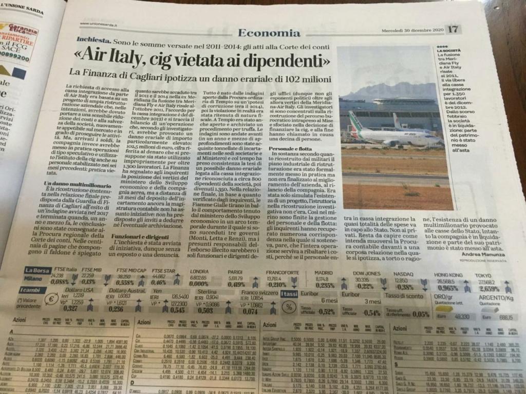 Airitaly, la Finanza vaglia danno erariale. 69cfd610