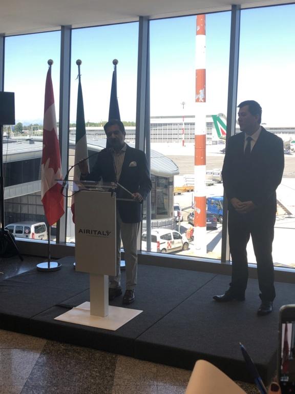 Inaugurazione Milano-Toronto Airitaly 7940cb10