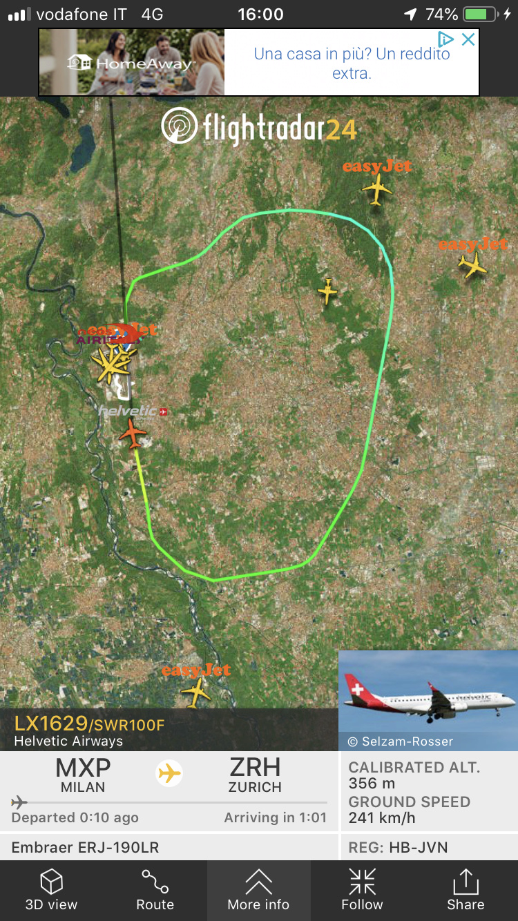 Swiss rientra dopo il decollo da MXP  7cb56c10