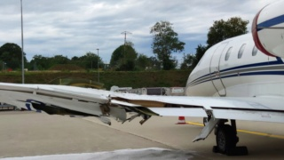 Incidente a MXP tra Cessna e rampa  82e38310
