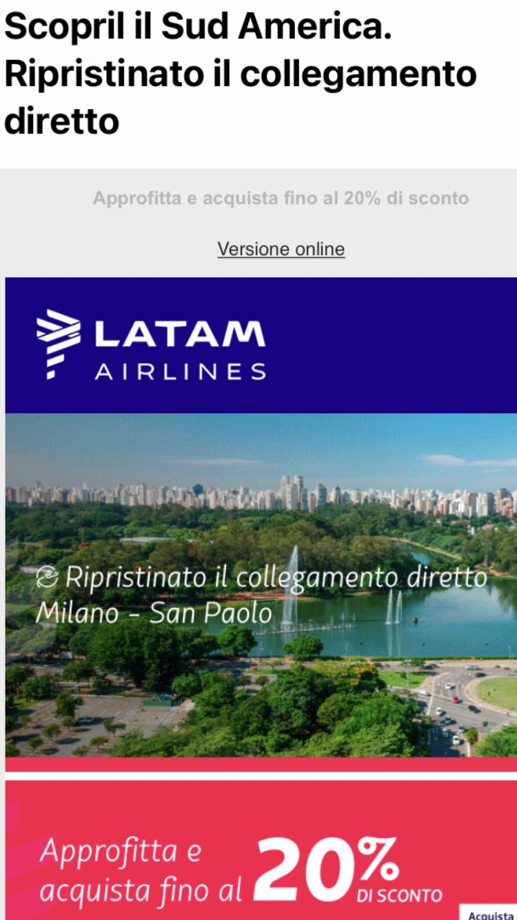 Latam riprende il volo sull'Italia (Milano)  9c52ab10