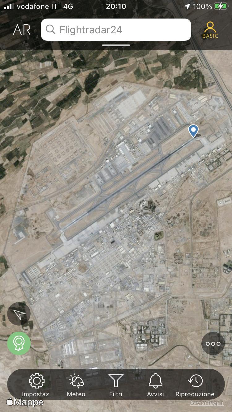 Kabul, Flightradar24 viene spento. 9ff9a710