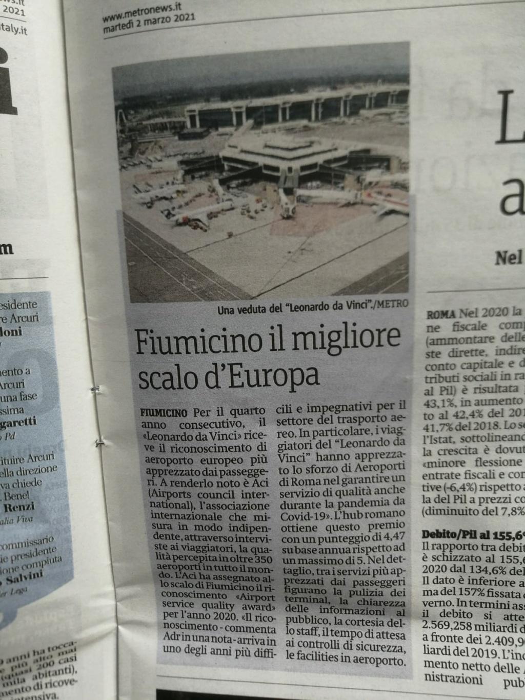 """Fiumicino migliore aeroporto """"al mondo"""" !? Bf4f3110"""
