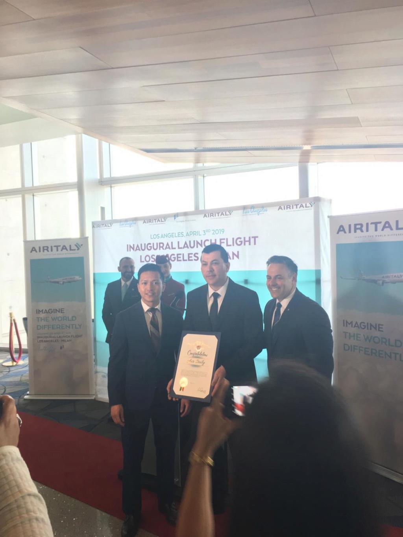 Evento: inaugurazione Airitaly Milano-Los Angeles C4687610