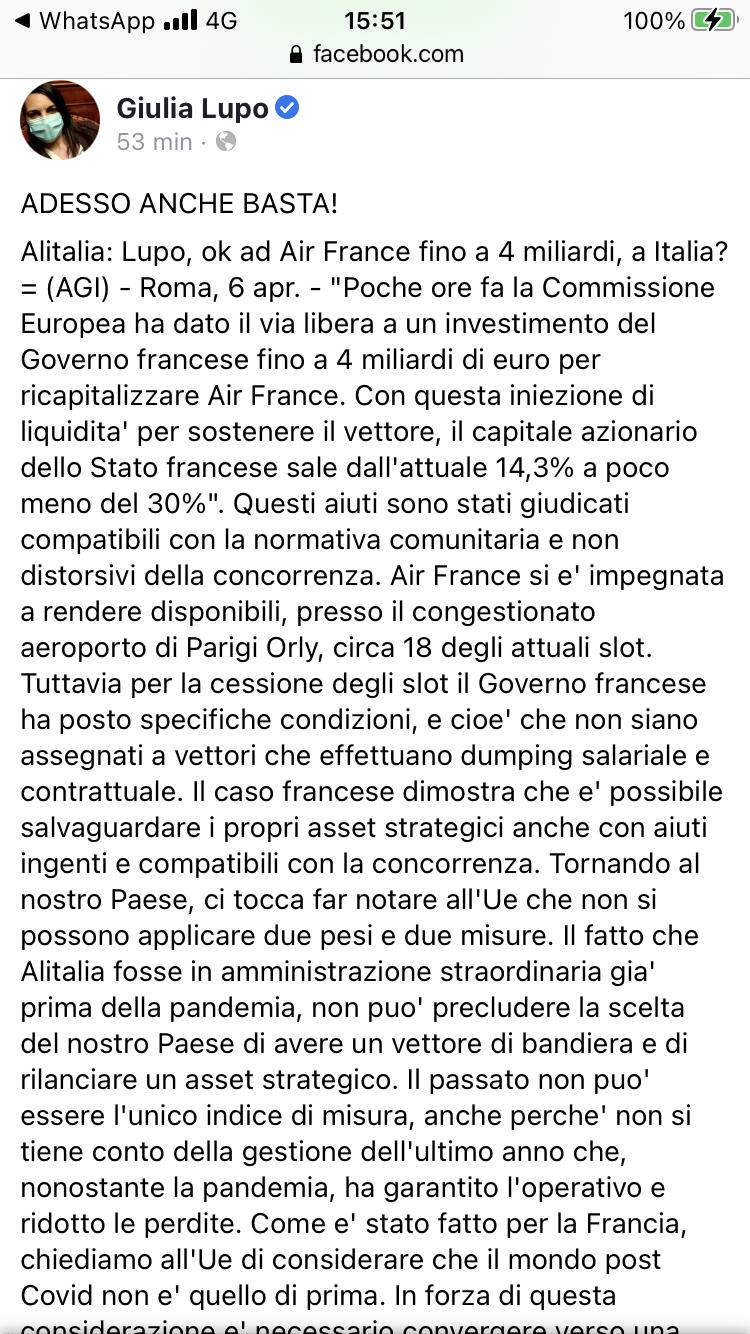 Alitalia, scontro con la EU - Pagina 4 Eb062a10