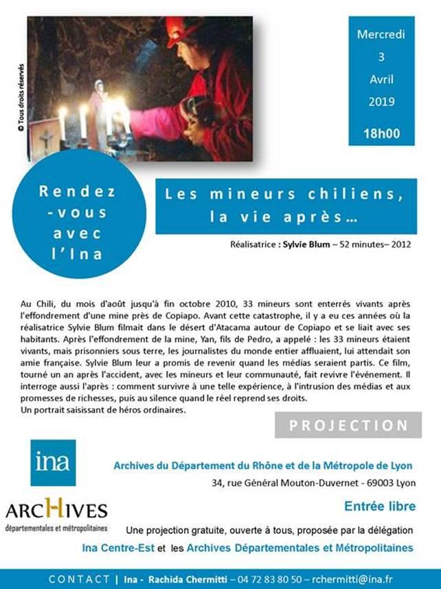 """A lyon, """"rendez-vous avec l'Ina"""" le 3 avril à 18h : Les mineurs chiliens... Mineur10"""