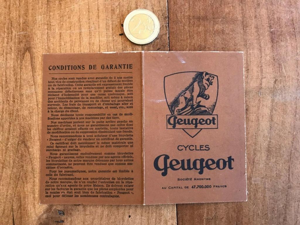Certificat d'achat vélo Peugeot S-l16011