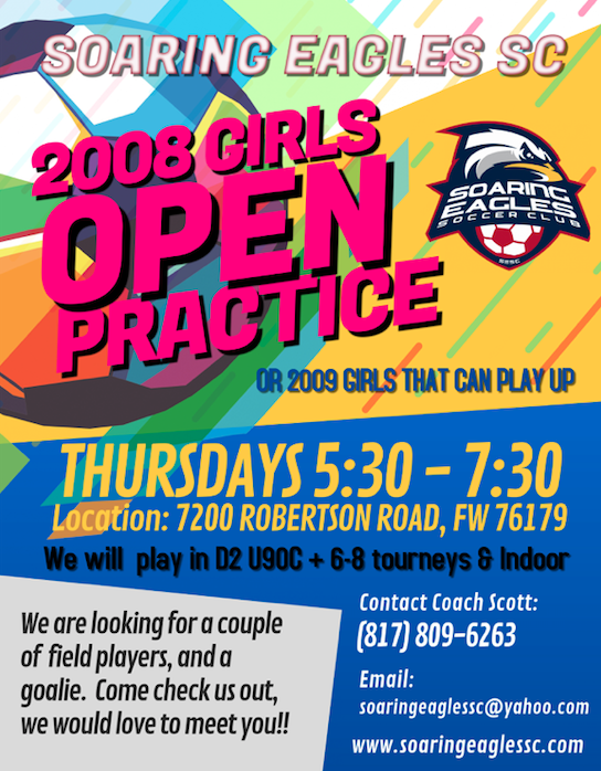 SESC 08G OPEN PRACTICE *FORT WORTH* LOOKING FOR PLAYERS Soarin13