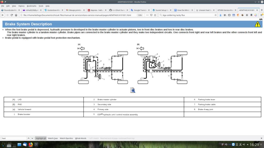 Uneven heat build-up in opposite brake rotors Screen10