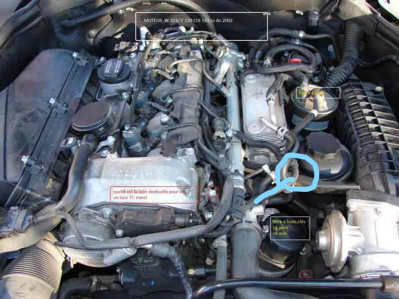 [ Mercedes C220 cdi an 2003 ] problème démarrage et durite carburant Inkedm10