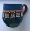 Blue Slipware Mug without Mark / Signature - Troyan Pottery, Bulgaria Img_1910
