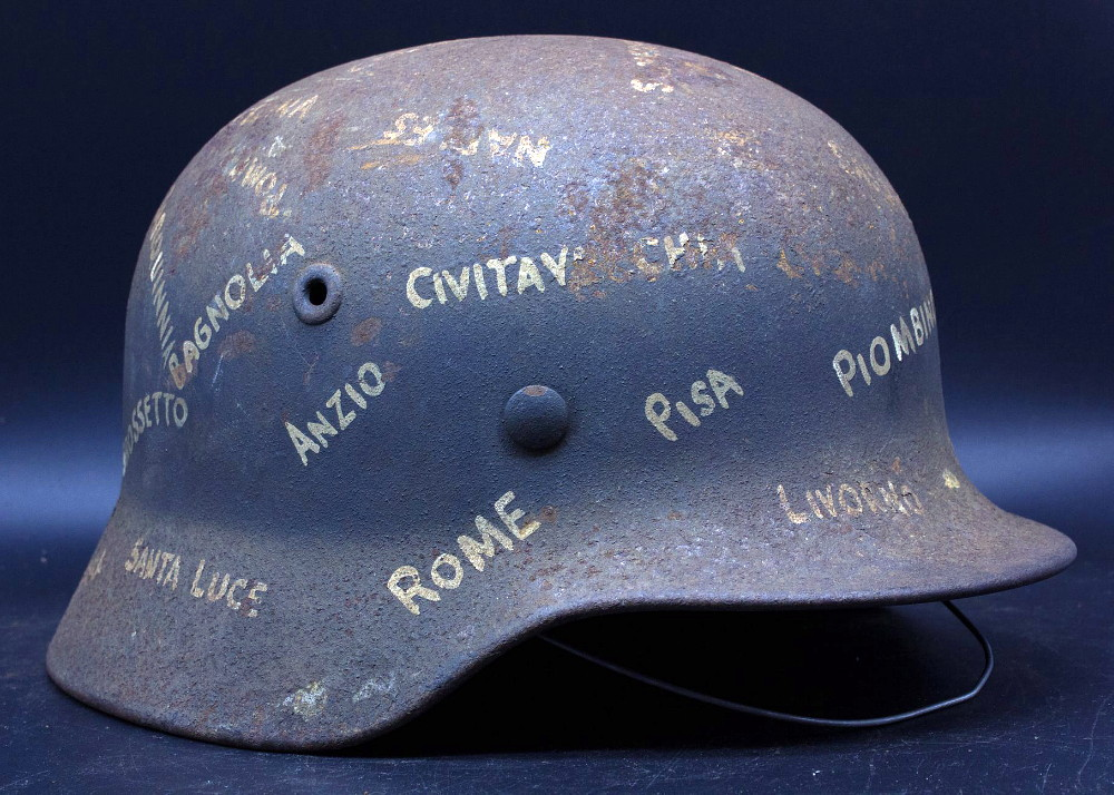 Casque Mod.40 Luftwaffe - Souvenir de guerre et trait-d'union Italie-France 01_fab10
