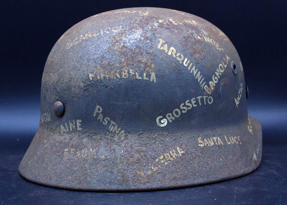 Casque Mod.40 Luftwaffe - Souvenir de guerre et trait-d'union Italie-France 01_fab11