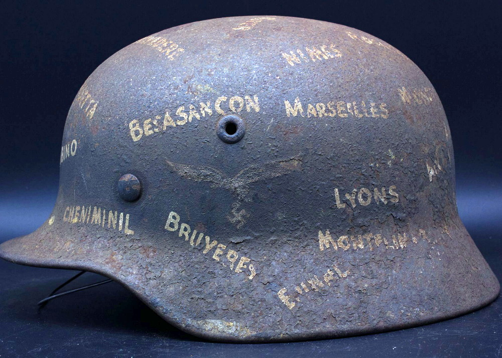 Casque Mod.40 Luftwaffe - Souvenir de guerre et trait-d'union Italie-France 01_fab12
